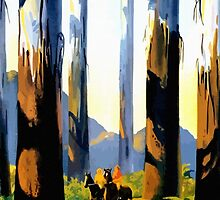 Vintage Australia travel tall trees Marysville VIC by aapshop