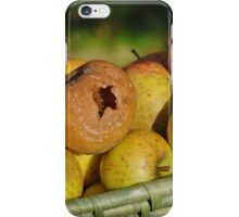 Bad apples in the basket iPhone Case/Skin