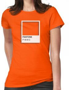 Colours of Red Bubble: Orange Womens Fitted T-Shirt