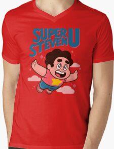 Super Steven U Mens V-Neck T-Shirt