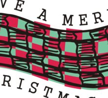 Knitting crochet scarf Merry Christmas Day Sticker