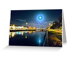 Moonlit night on Merchant´s Quay 003 Greeting Card