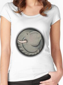 Canned Elephant Women's Fitted Scoop T-Shirt