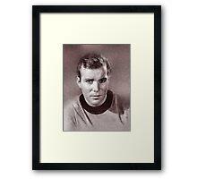 William Shatner by John Springfield Framed Print