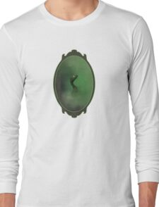A green dragon emerging from the mist Long Sleeve T-Shirt