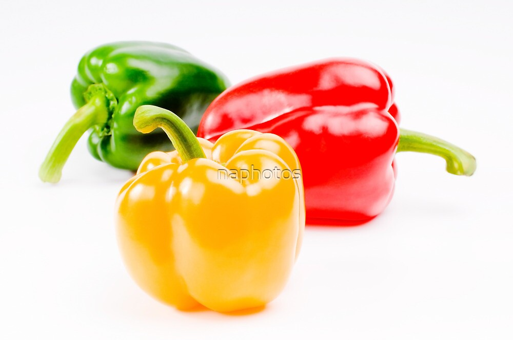 colorful sweet peppers by naphotos