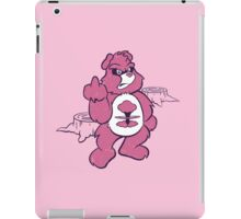 Don't Care Bear (pink) iPad Case/Skin