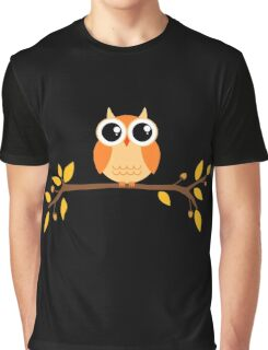Cute Autumn Owl Graphic T-Shirt