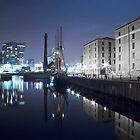Canning Dock At Night - Liverpool by Paul Madden