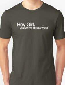 Hey Girl, You had me at Hello World Unisex T-Shirt