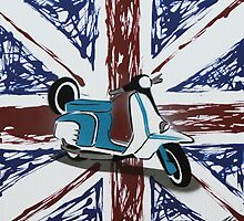 British Scooter 01 Painting by Richard Yeomans