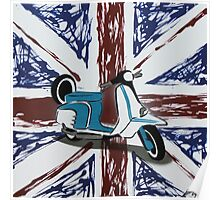 British Scooter 01 Painting Poster