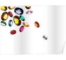 falling gems Poster