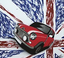 British Mini 03 Painting by Richard Yeomans