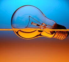 light bulb in the water by naphotos