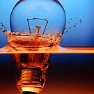 light bulb shot through the water by naphotos