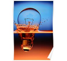 light bulb shot through the water Poster
