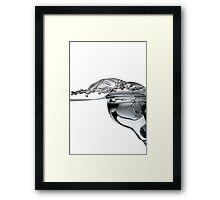 light bulb in the water Framed Print
