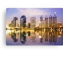 city in twilight Canvas Print