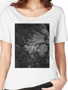 Fort Worth map Texas Women's Relaxed Fit T-Shirt