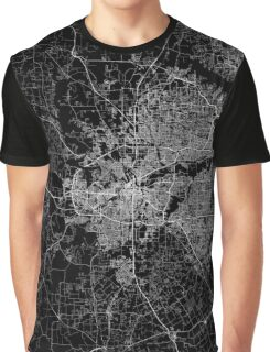 Fort Worth map Texas Graphic T-Shirt