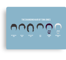 The changing hair of Tom Jones Canvas Print