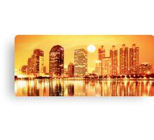 sunset panorama scenes of city Canvas Print