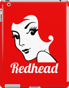 Miss Redhead (text) [iPhone / iPad / iPod case   Tshirt   Print] by Damienne Bingham