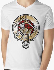 Wallace Clan Crest Mens V-Neck T-Shirt