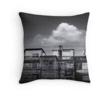 old buildings Throw Pillow