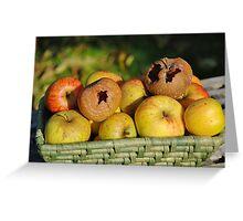 Basket of bad apples Greeting Card