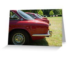 Alfa Romeo Giulia Sprints Greeting Card