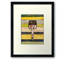 BRUSH CITRUS Framed Print