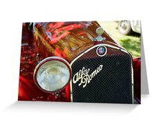 Alfa Romeo 6C Greeting Card
