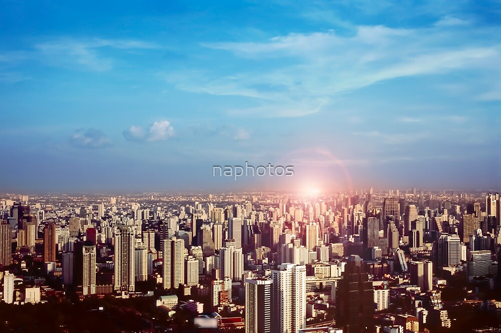 Sunset in the city by naphotos