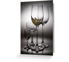splashing wine Greeting Card