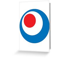 MODS, Mod, Mod Circle, Mod Roundel, Bulls eye, Target, Scooter, Lambretta, Vespa Greeting Card