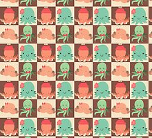Cute Silly Octopus Pattern by SaradaBoru