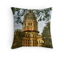 Working on the State House Throw Pillow