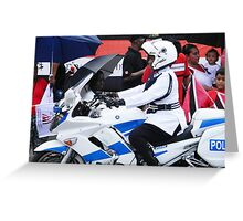 WPC Police Motorcyclist Greeting Card