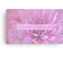 God Bless This Home - Pink  Canvas Print