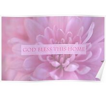 God Bless This Home - Pink  Poster