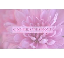 God Bless This Home - Pink  Photographic Print