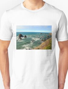 Mendocino Rocks original painting Unisex T-Shirt