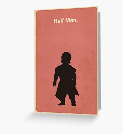 Half Man Greeting Card