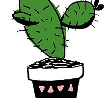 Cactus in a Pot by melaniewoon