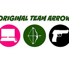 Original Team Arrow - Colorful Symbols - Weapons by FangirlFuel