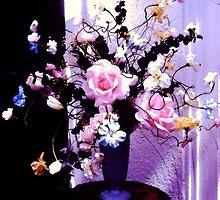 """""""Pink Roses""""© by HelgaFCrosby"""