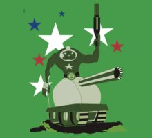 Green  Tankster One Piece - Short Sleeve