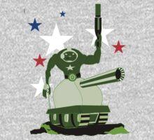 Green  Tankster One Piece - Long Sleeve